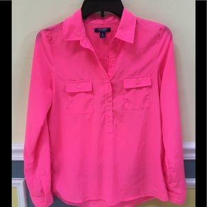 Old Navy Pink Silky Shirt